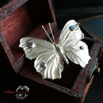 Silver-plated BUTTERFLY BROOCH
