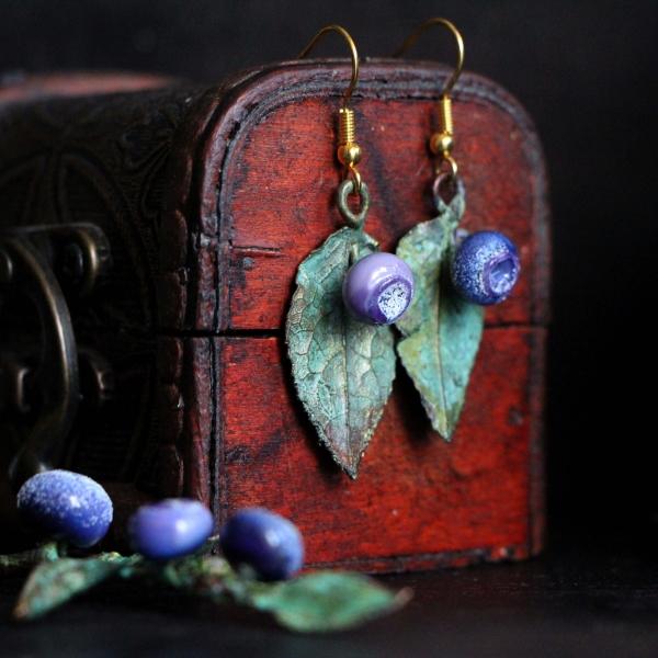 Blueberry earrings