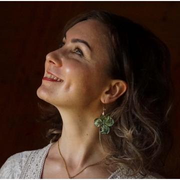 Four-leaf clover earrings