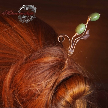 Hairpin from olive branch