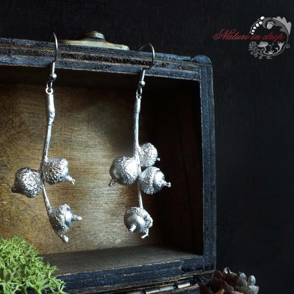 Earrings - silver-plated acorns