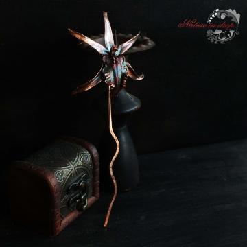 Jehlice z pokoveného květu orchideje